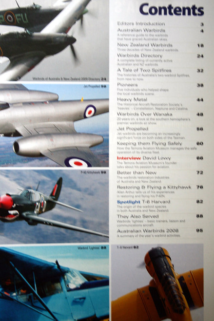 War Birds Australia New Zealand  2009 Magazine - Special Edition