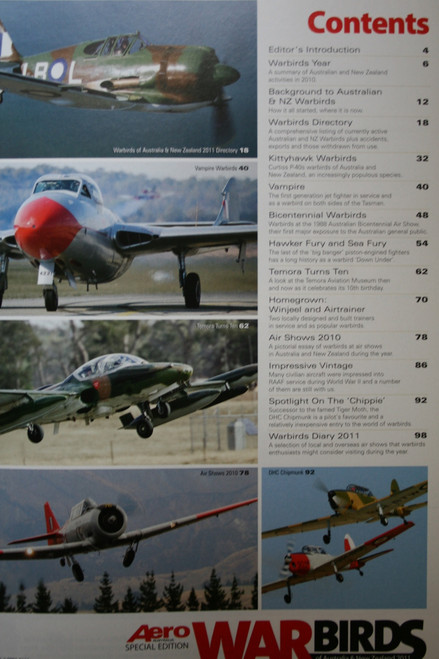 War Birds Australia New Zealand  2011 Magazine- Kittyhawks