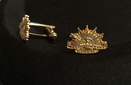 ARMY Rising Sun Cufflinks - GOLD