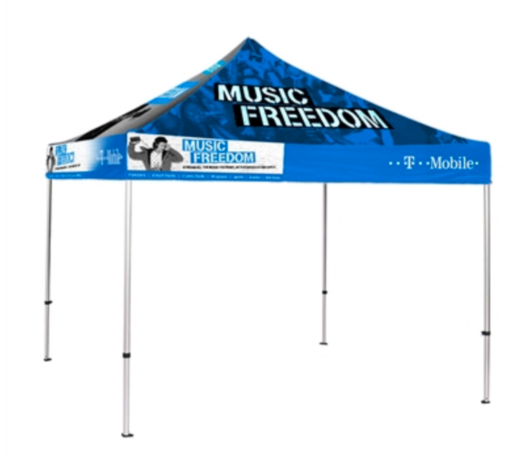 The 10 ft Pop Up Canopy Tents are eye catchers in any event setting indoors or outdoors