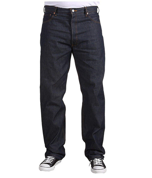 Levi's Men 501 Big & Tall Original Button Fly Rigid Blue Shrink-To-Fit Jeans 11501-0000