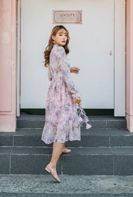 Teterot Salon Cheolik Dress Short Sleeve Pink Lady T1I01D073