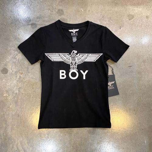 Boy London Ladies V Neck Black Tee BW-BWRE (FINAL SALE)