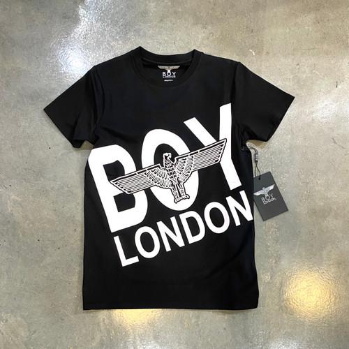 Boy London Block Letter Middle Eagle Black Tee BS-BBEL (FINAL SALE)