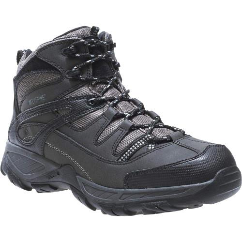 Wolverine Men's Bennett Waterproof Steel-Toe Work Boot W04117 Black/Gray