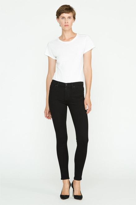 Hudson Jeans Women's Nico Mid Rise Super Skinny WM407DWI Black (FINAL SALE)