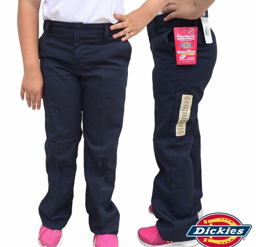 Dickies Little Girl's Flex-Waist Flat Pant KP312BK Black (FINAL SALE)