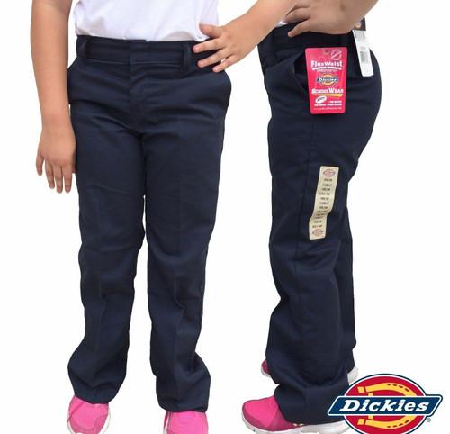 Dickies Little Girl's Flex-Waist Flat Pant KP312DN Dark Navy (FINAL SALE)