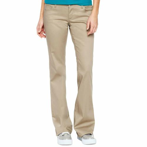Dickies Girl Juniors 5 Pocket Flare Leg Twill Pants HH160 (FINAL SALE)