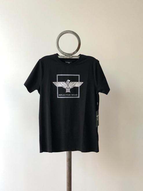 """Boy London """"Reflective Wear"""" Box Logo Black Tee EB-BBETB (FINAL SALE)"""