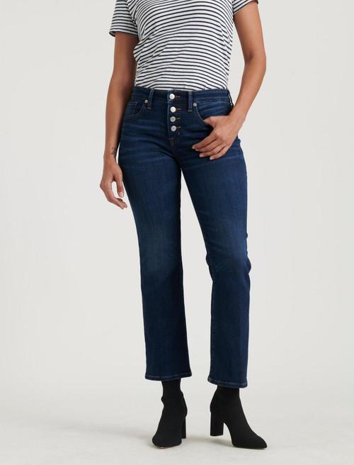 Lucky Brand Women's Ava Crop Mini Boot Jeans 7WW1027 Abbot