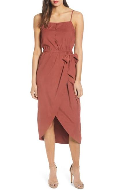 Moon River Overlap Skirt Dress MR4737 Sienna (FINAL SALE)