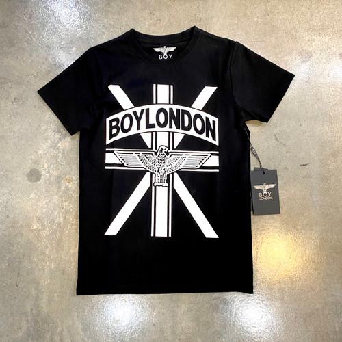 Boy London Flag Banner Logo Black Tee BS-BEFXT (FINAL SALE)
