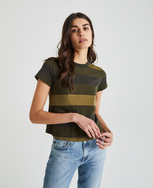 AG Adriano Goldschmied Women's Del Ray Baby Tee Notting Vine