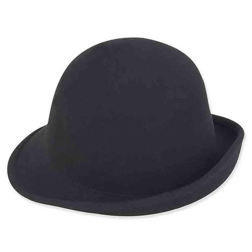 """Adora Shapable Wool Felt Cloche 2"""" Brim Hat AD969"""