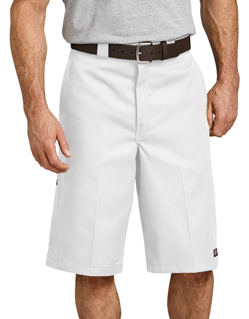 "Dickies M 13"" Loose Fit Multi-Pocket Work Short 42283WH White"