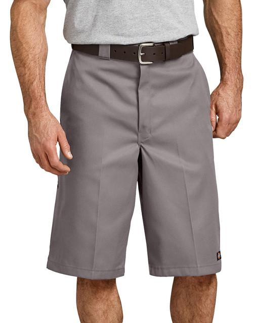 "Dickies M 13"" Loose Fit Multi-Pocket Work Short 42283SV Silver Gray"