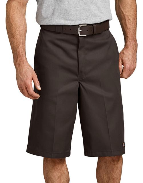 """Dickies M 13"""" Loose Fit Multi-Pocket Work Short 42283DB Dark Brown"""