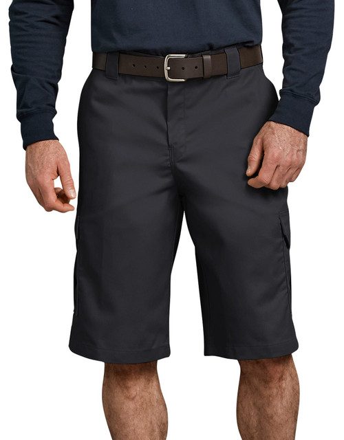 """Dickies M 13"""" Relaxed Fit Cargo Work Short WR557BK Black"""