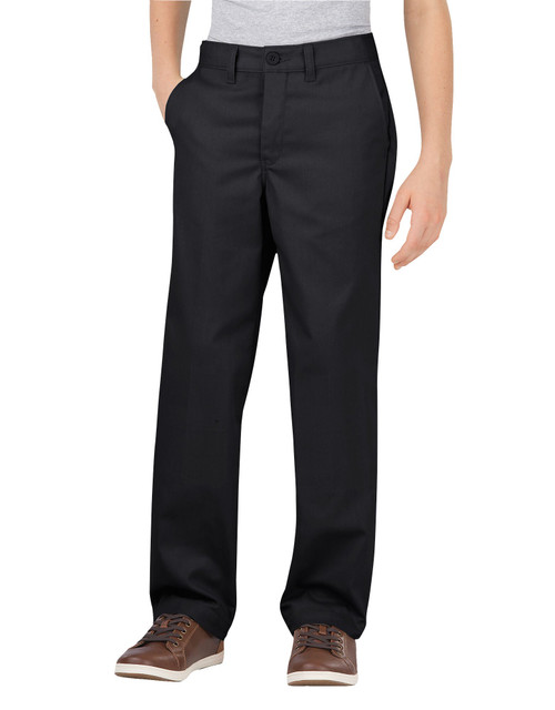 Dickies Big Boy's Classic Fit Flat Front Flex Pant KP700BK Black