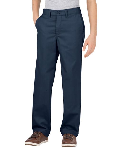 Dickies Big Boy's Classic Fit Flat Front Flex Pant KP700DN Dark Navy