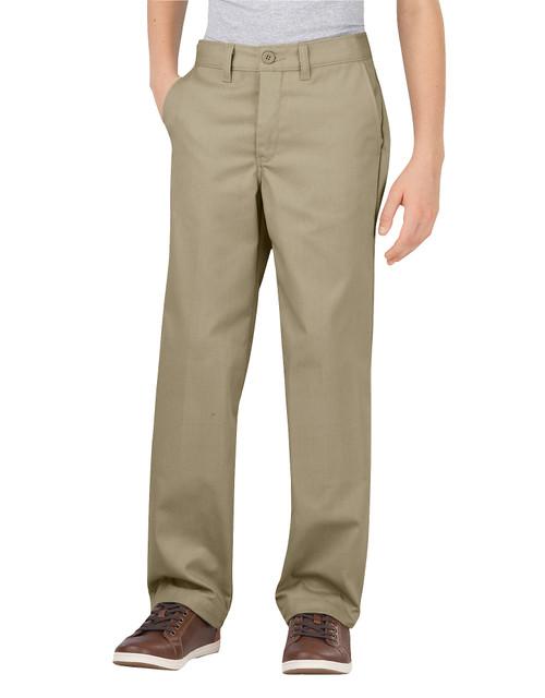 Dickies Big Boy's Classic Fit Flat Front Flex Pant KP700DS Desert Sand