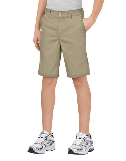 Dickies Big Boy's Classic Fit Flat Front Short KR700DS Desert Sand