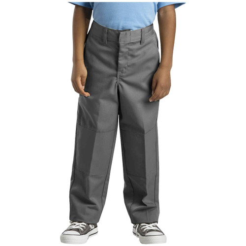 Dickies Big Boy's Double Knee Extra Pocket Pants 85362SV Silver Gray (FINAL SALE)