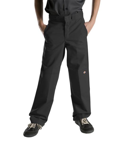 Dickies Big Boy's Double Knee Extra Pocket Pants 85562BK Black (FINAL SALE)
