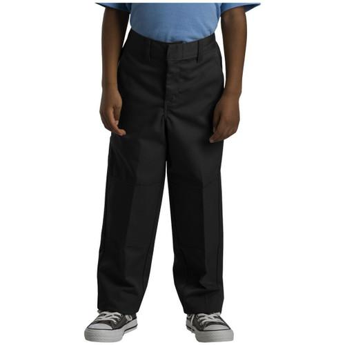 Dickies Big Boy's Double Knee Extra Pocket Pants Husky 85062BK Black (FINAL SALE)