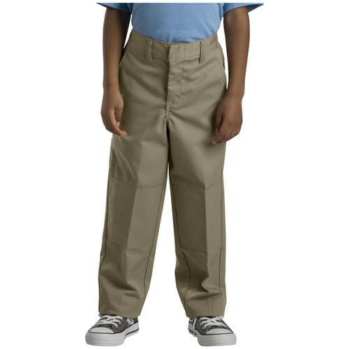 Dickies Big Boy's Double Knee Extra Pocket Pants Husky 85062KH Khaki (FINAL SALE)