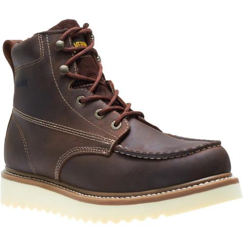 """Wolverine Men's Loader 6"""" Steel Toe Wedge Boot W10742 Brown"""