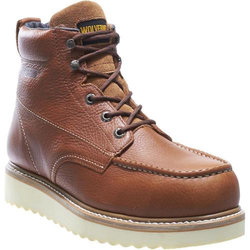 """Wolverine Men's Moc-Toe EH 6"""" Work Wedge Boot W08289 Steel Toe Honey"""