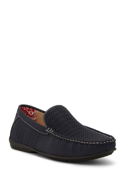 Stacy Adams Men's Cicero Perforated Moc Toe Slip On Loafers 25172