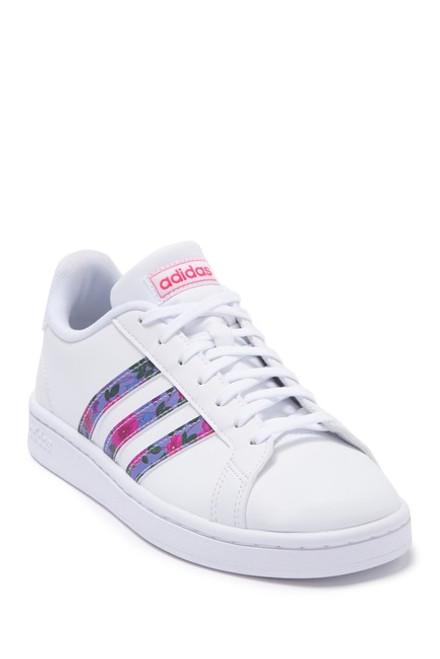 Adidas Women's Grand Court Sneakers EG0536 White/Globlue/Reapnk