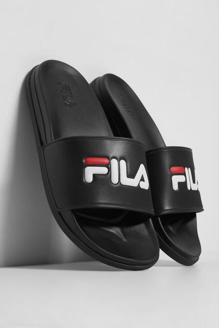 Fila Women's Drifter Lux Slide 5SM00553-014 BLK/FRED/WHT