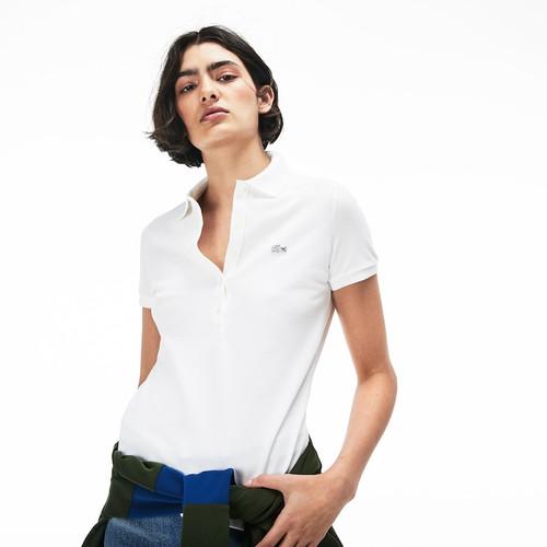 Lacoste Women's Slim Fit Stretch Mini Cotton Piqué Polo Shirt PF7845
