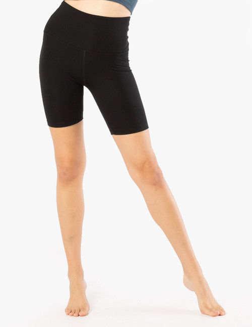 Beyond Yoga Heather Rib High Waist Biker Short HR5054