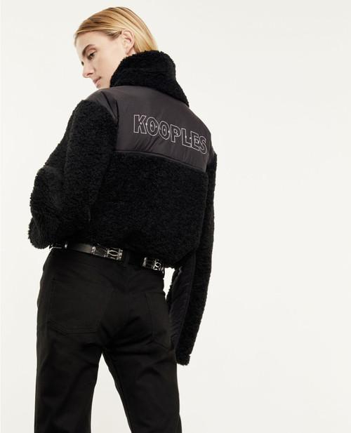 The Kooples Roll Neck Dual Fabric Sweatshirt FSWE22012S