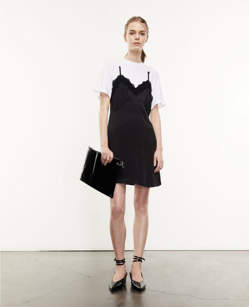 The Kooples Black White 2-IN-1 Babydoll T-Shirt Dress