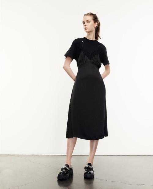 The Kooples Long Black Babydoll T-Shirt Dress