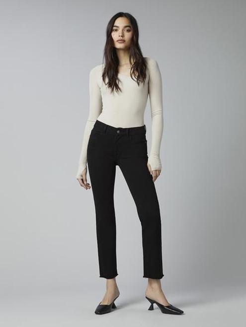 DL1961 Mara Straight Black Peached Raw Jeans 12979