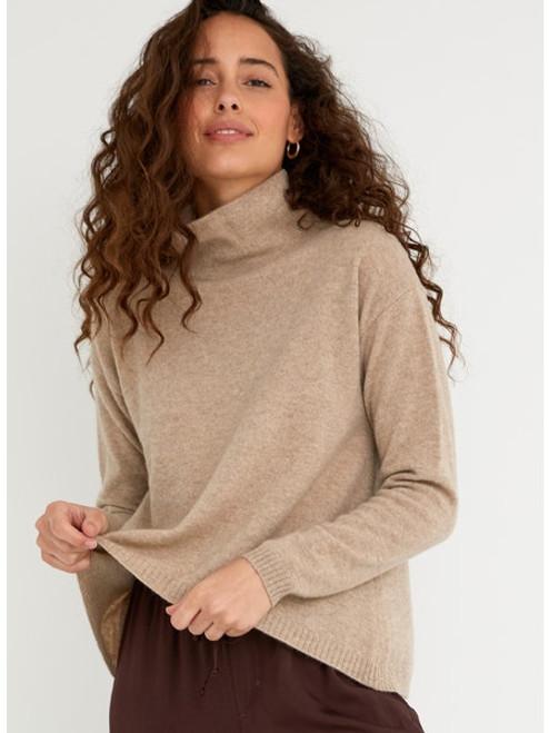 Bella Dahl 100% Cashmere Turtleneck Sweater