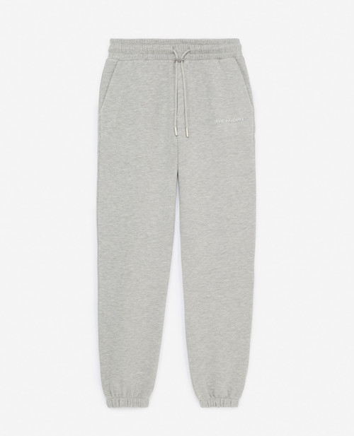 The Kooples Silver Logo Relaxed Cotton Joggers FJOG23016K