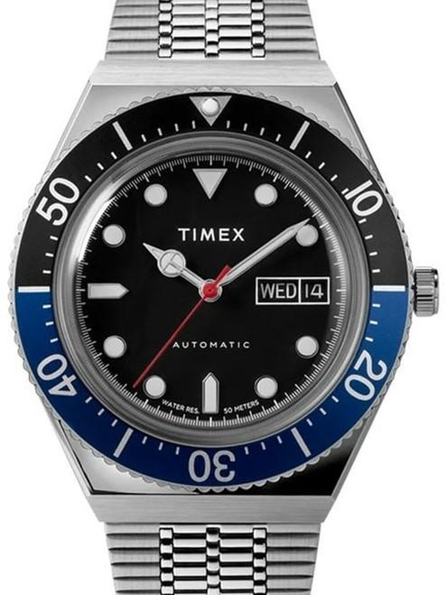 Timex M79 Automatic 40mm Stainless Steel Bracelet Watch TW2U29500ZV