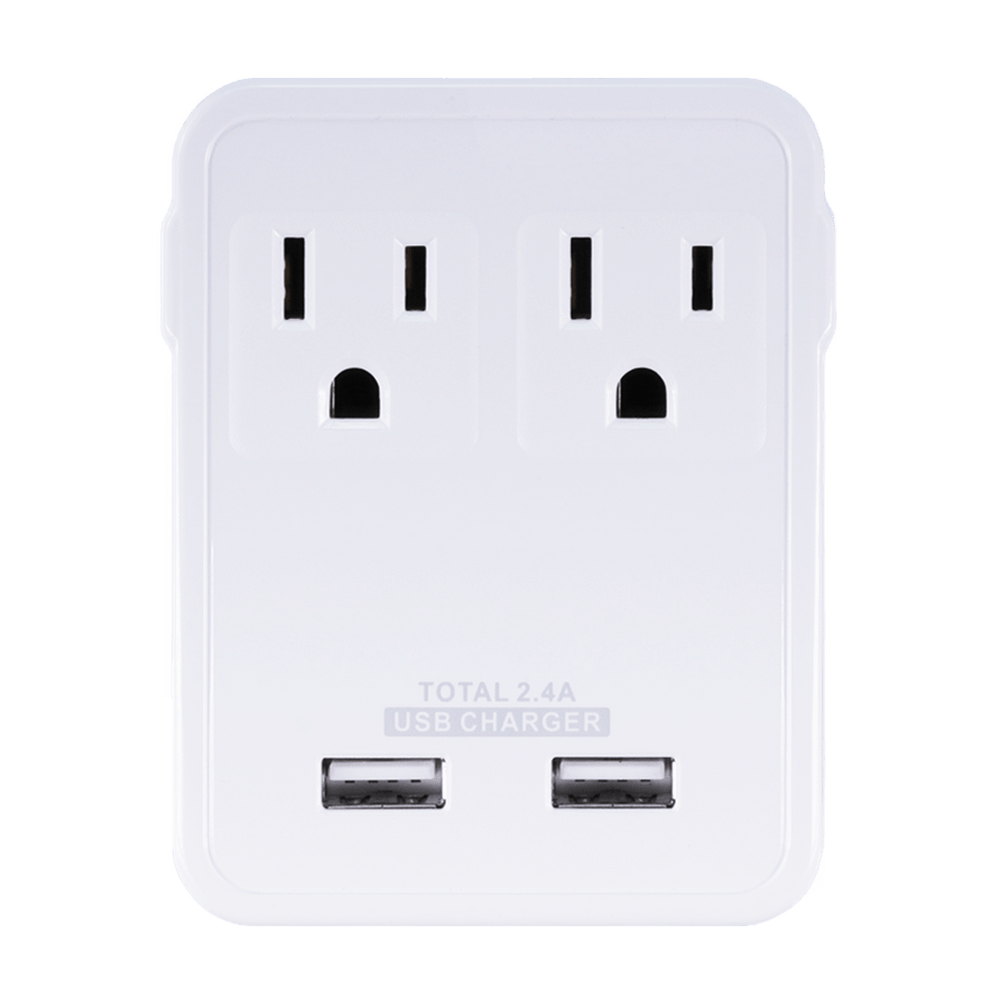 PS113, Travel Wall Charger w/ 2 USB Ports