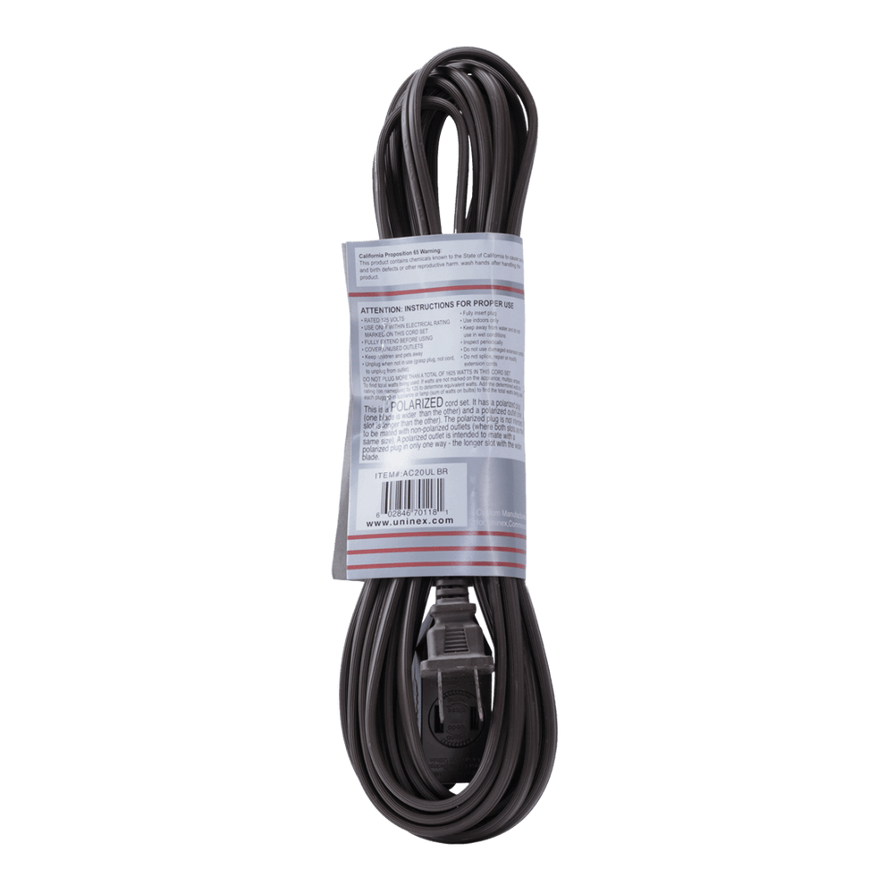 AC20UL BR, 20ft Household Extension Cord