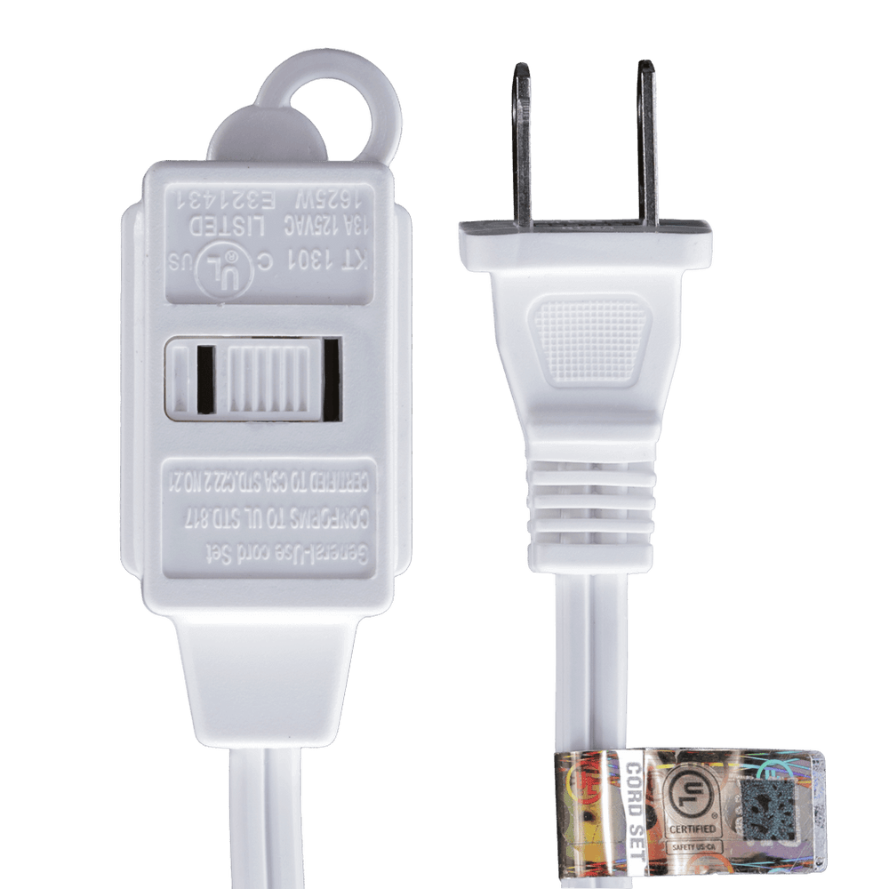 AC06UL WT, 6ft Household Extension Cord