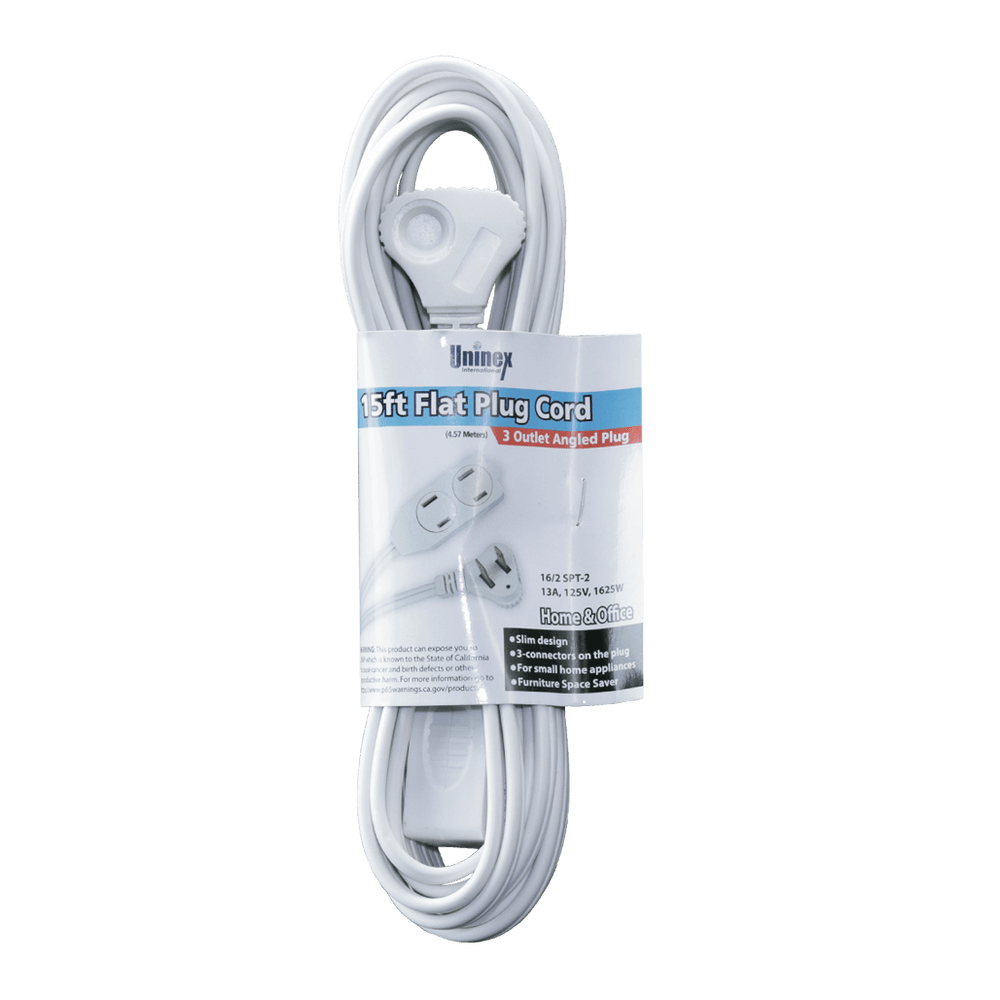 AC15AUL, 15ft Flat Plug Cord