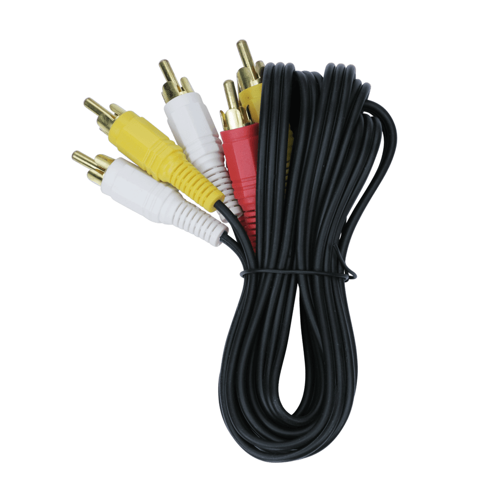 RCA306GAA, 6ft (1.83m) Audio Patched Cable with Triple Plug